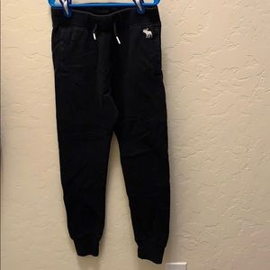 Abercrombie kids black sweatpants